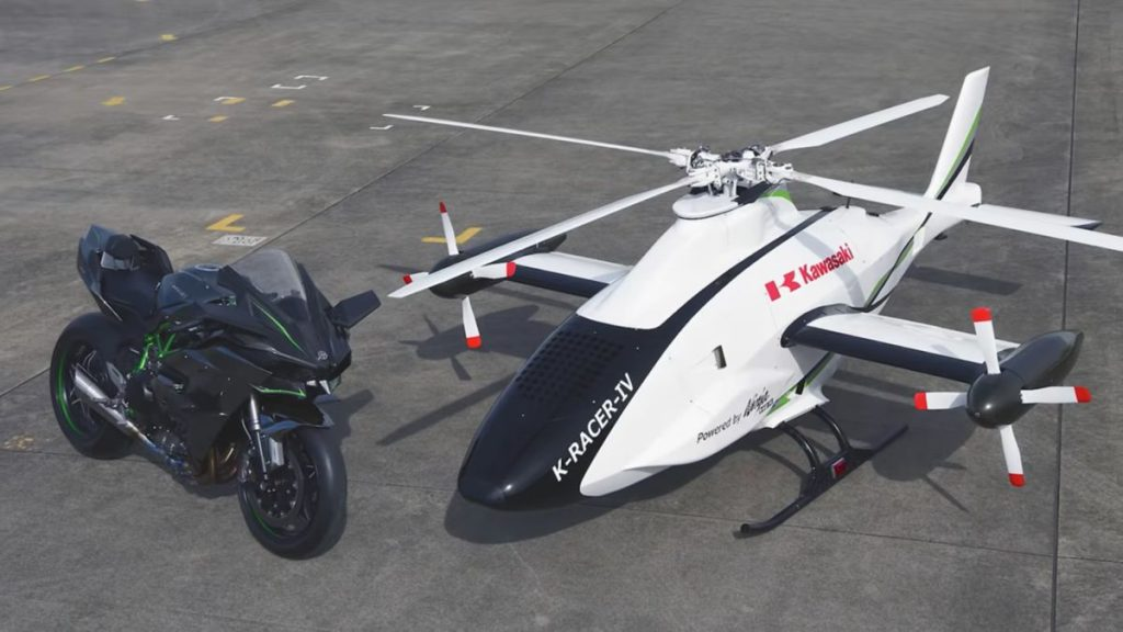 Kawasaki test unmanned K-RACER compound helicopter