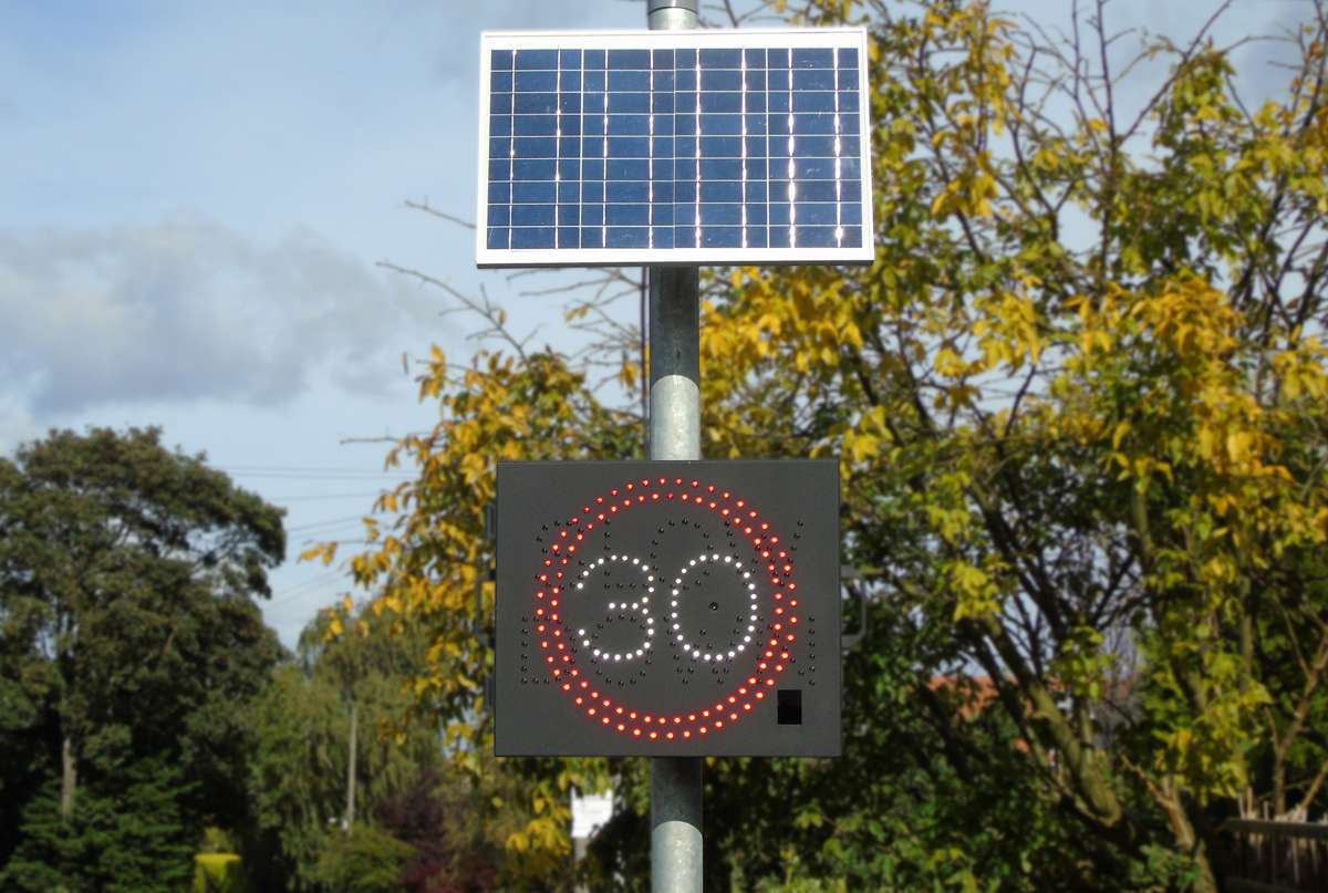 Speed warning signs installed by SWARCO Traffic for Melsonby Parish Council