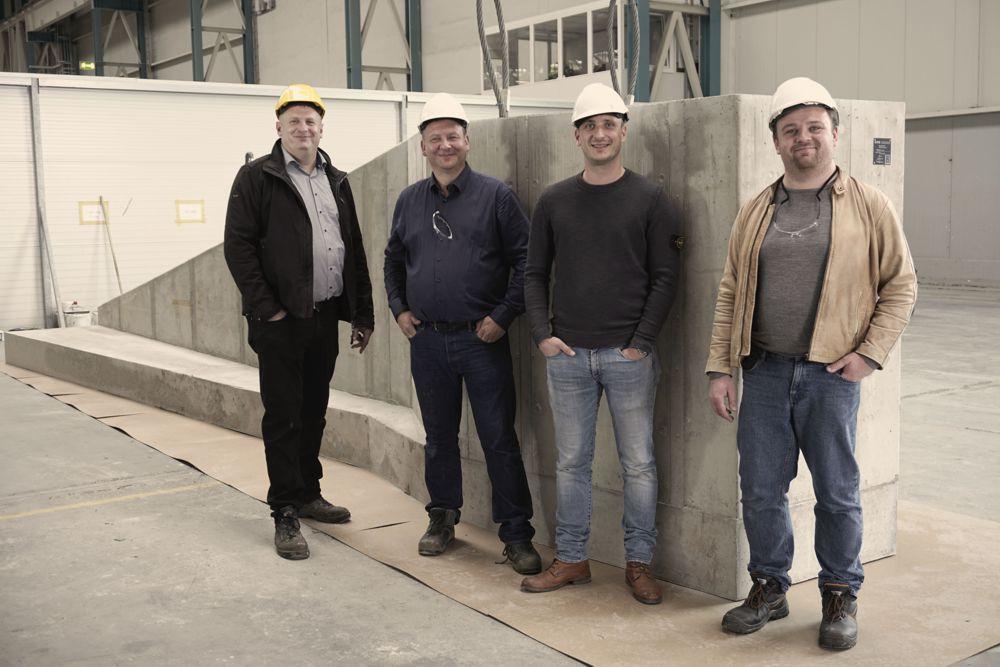 The ANKER Foundations team (from left): Christop Schriefer (Chief Engineer), Gregor Prass (CEO & Founder), Christoph Schwenzer (Authorized Signatory), Valentin Kühn (Engineer)