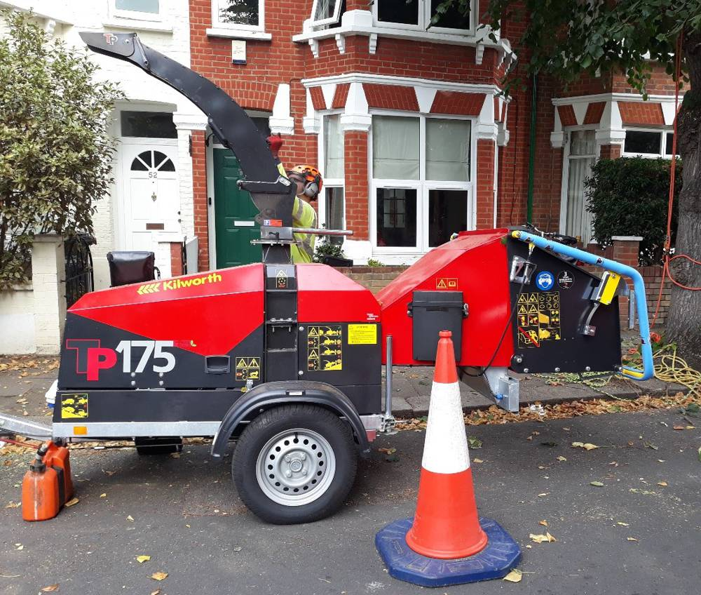Hounslow Highways puts the very first electric chipper to work