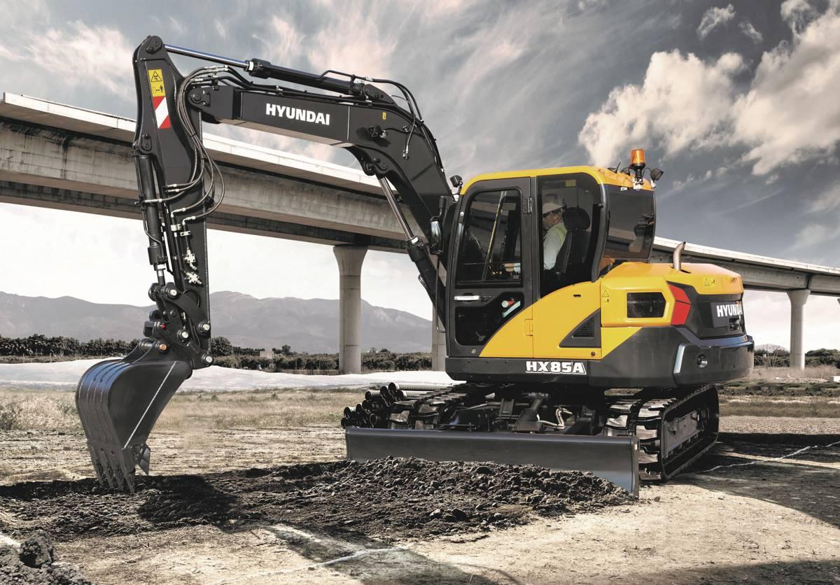 Compact Hyundai HX85A midi excavator delivers exceptional power