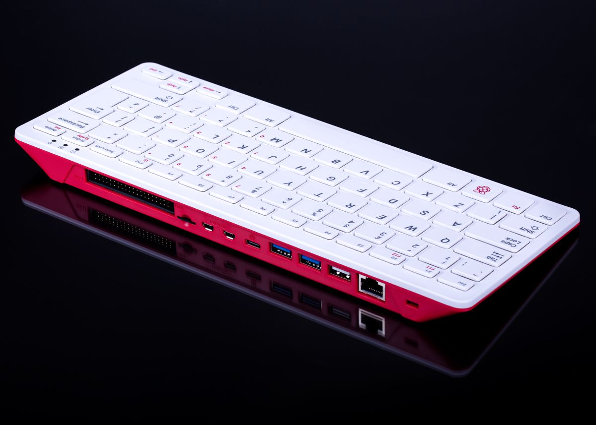 The Raspberry Pi Foundation has released their first desktop PC, in all-in-one unit with integrated keyboard and a price of under £100.