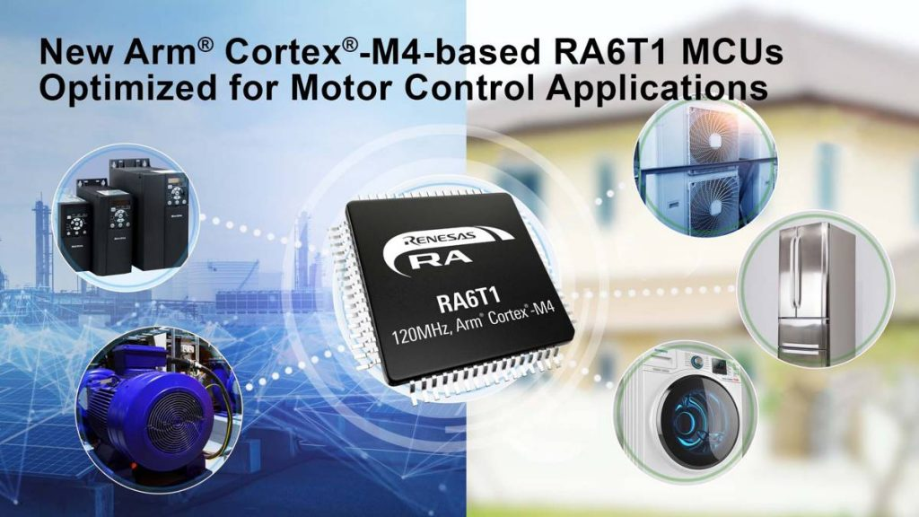 Renesas Extends RA Motor Controllers with AI-based predictive maintenance