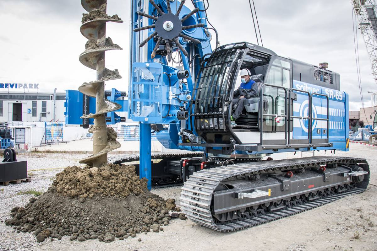 Soilmec's great SR-65 Drilling Machine gets a Blue Tech upgrade
