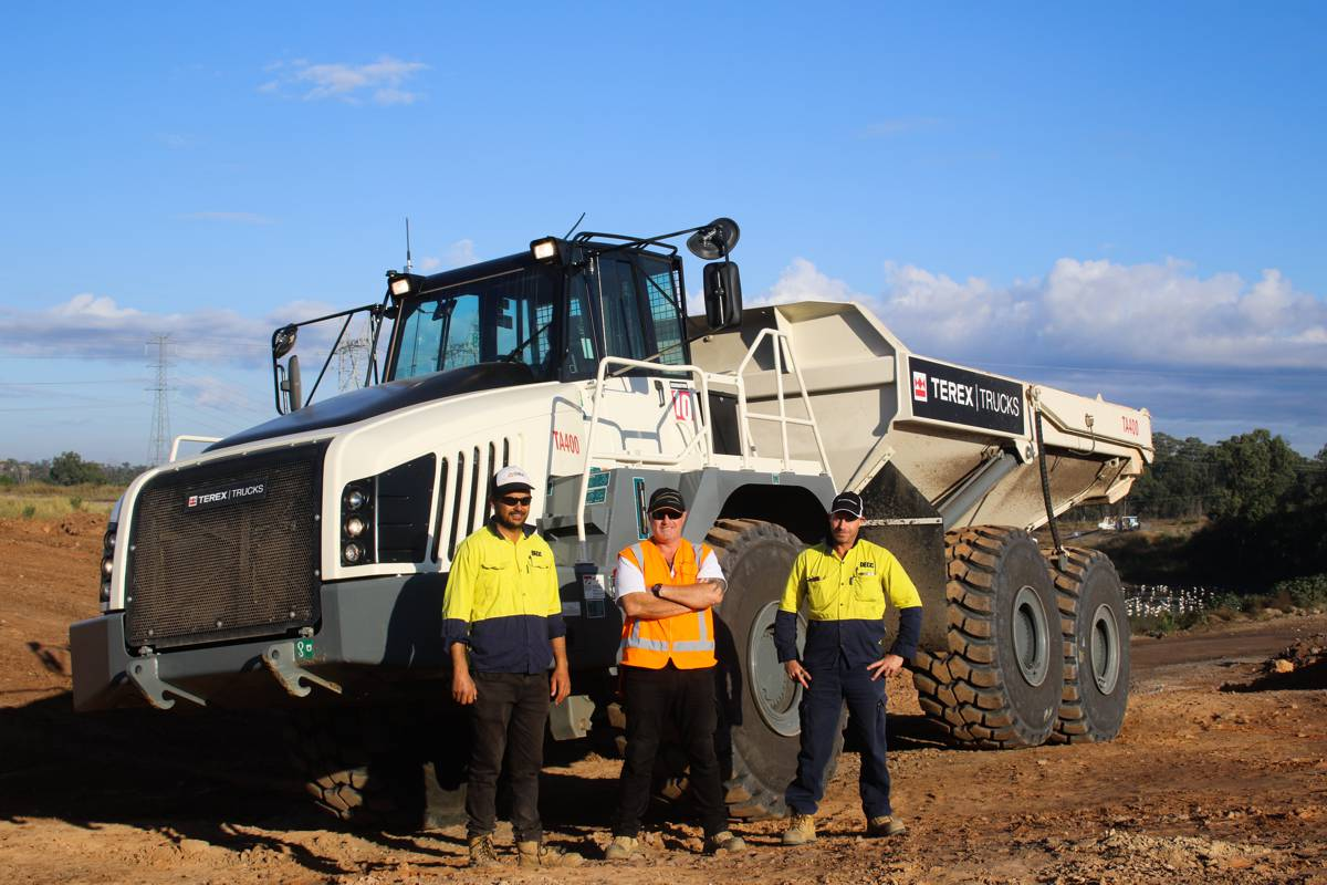 DECC's National Plant Manager Josh Cutts and his team were quickly impressed with the TA400's performance.