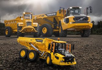 54 years of Volvo Articulated Haulers celebrated in Lego Technic
