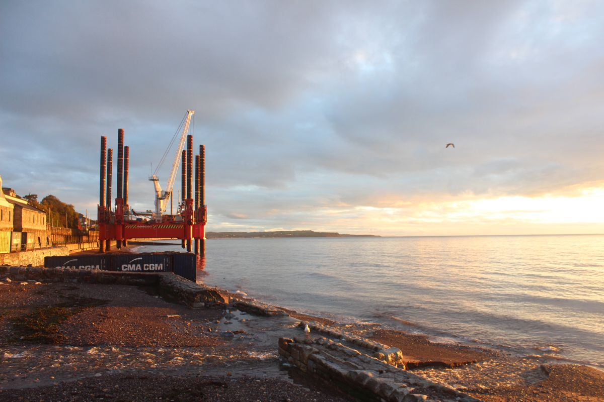 Network Rail begins work on second section of new Dawlish sea wall