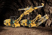 Komatsu introduces new jumbo mining drill and bolter on common carrier