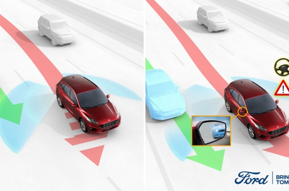 New Ford technology helps drivers avoid blind-spot collisions