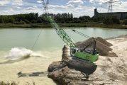 SENNEBOGEN 640 E dragline crane digs in for Adam Frères in France