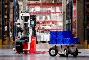 Fleet of Effidence robotic stackers assist Rhenus logistics services