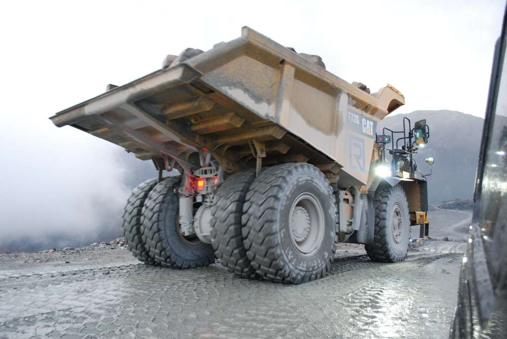 Steer AS Autonomous Trucks head for a stone quarry in Norway