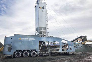 Rapidmix Mobile Continuous Mixing Plant the ideal solution for Bentonite Enriched Soils