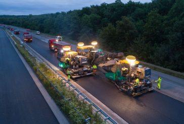 VÖGELE pavers enable German motorway rehabilitation in record time