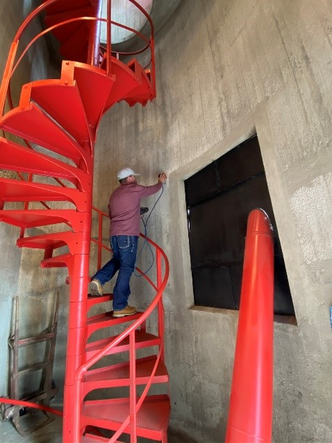 Concrete scanning and utility locating at The Modesto Silos, in Modesto CA.