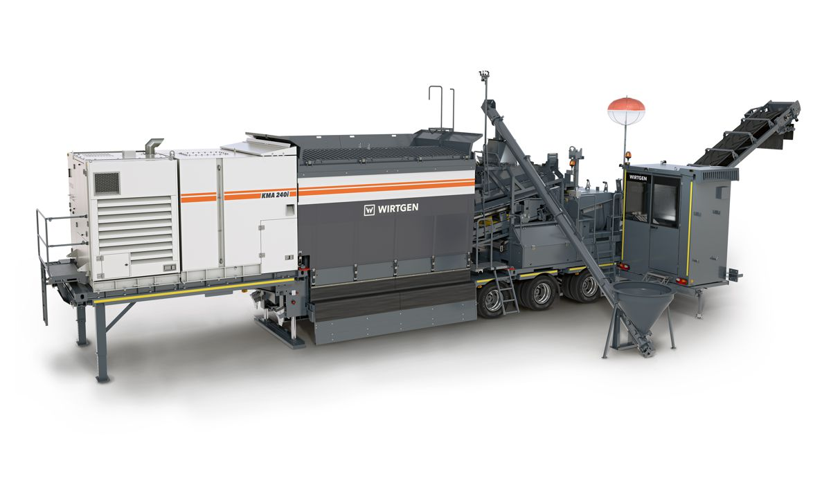Wirtgen's new Cold Recycling Mixing Plant delivers sustainability to the job site