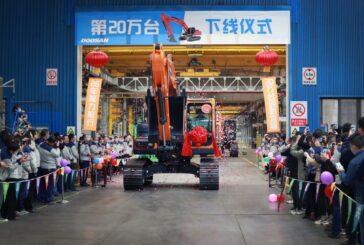 Doosan Infracore China celebrates 200,000 Excavator manufacturing milestone