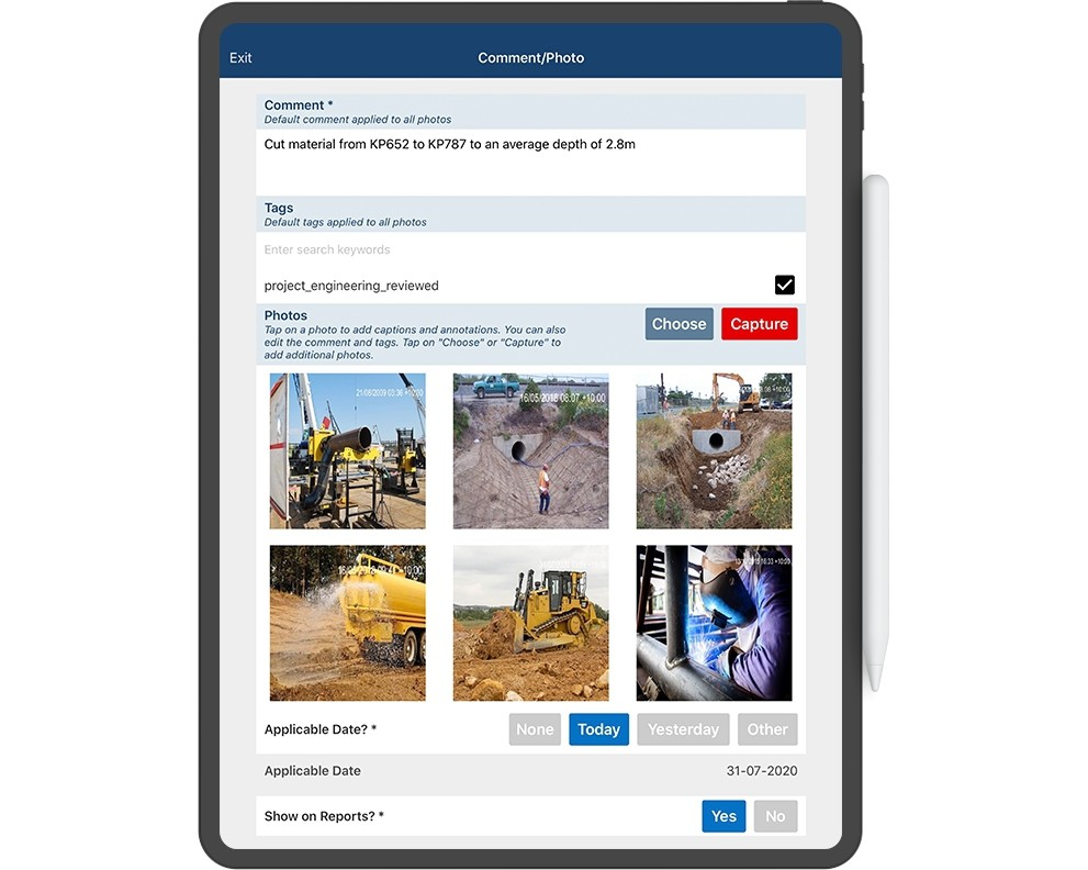 Foremen are connected in the field, providing updates across the project, including daily diaries, progress, and resource cost capture to provide clear line of sight for project leaders to make data-driven decisions.