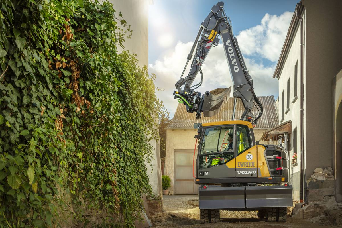 VolvoCE expands line-up with new EWR130E Wheeled Excavator