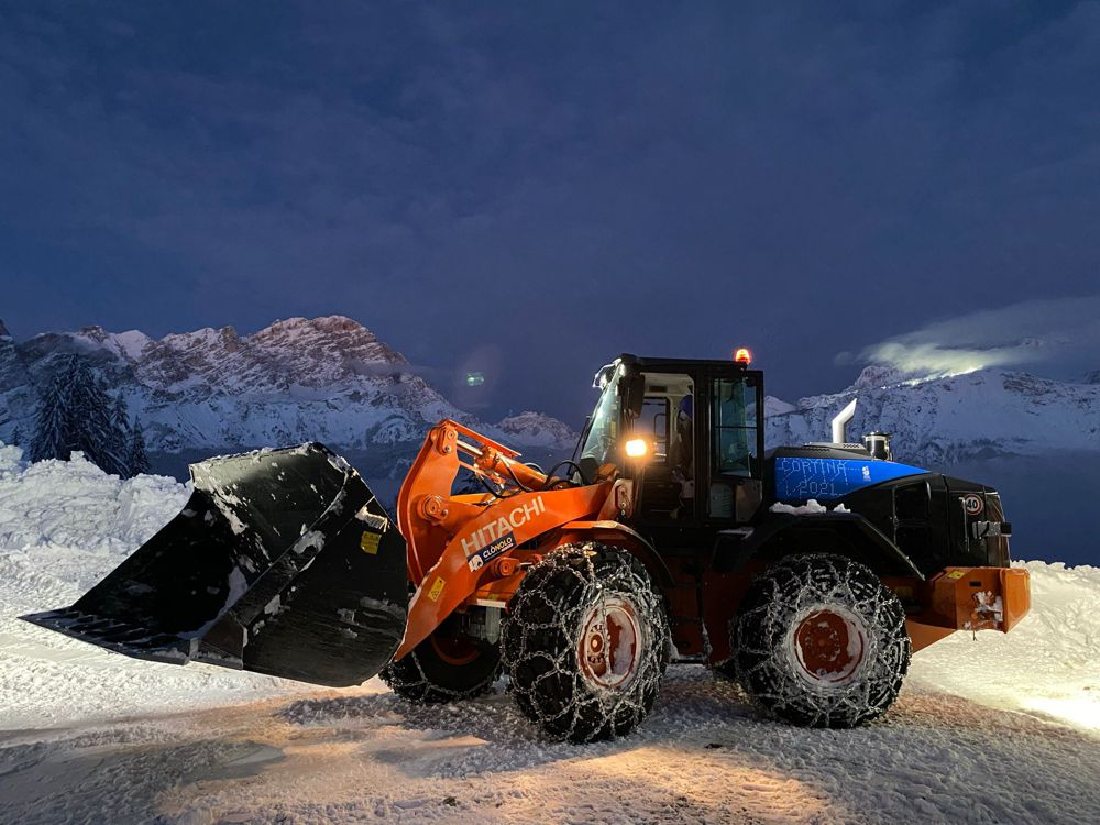 Hitachi Excavator fleet put to work at the Alpine World Ski Championships