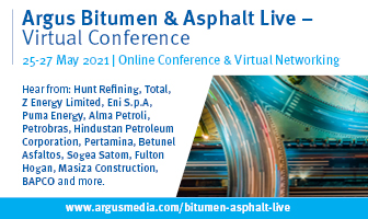 Argus Bitumen and Asphalt Live 25-27 May 2021