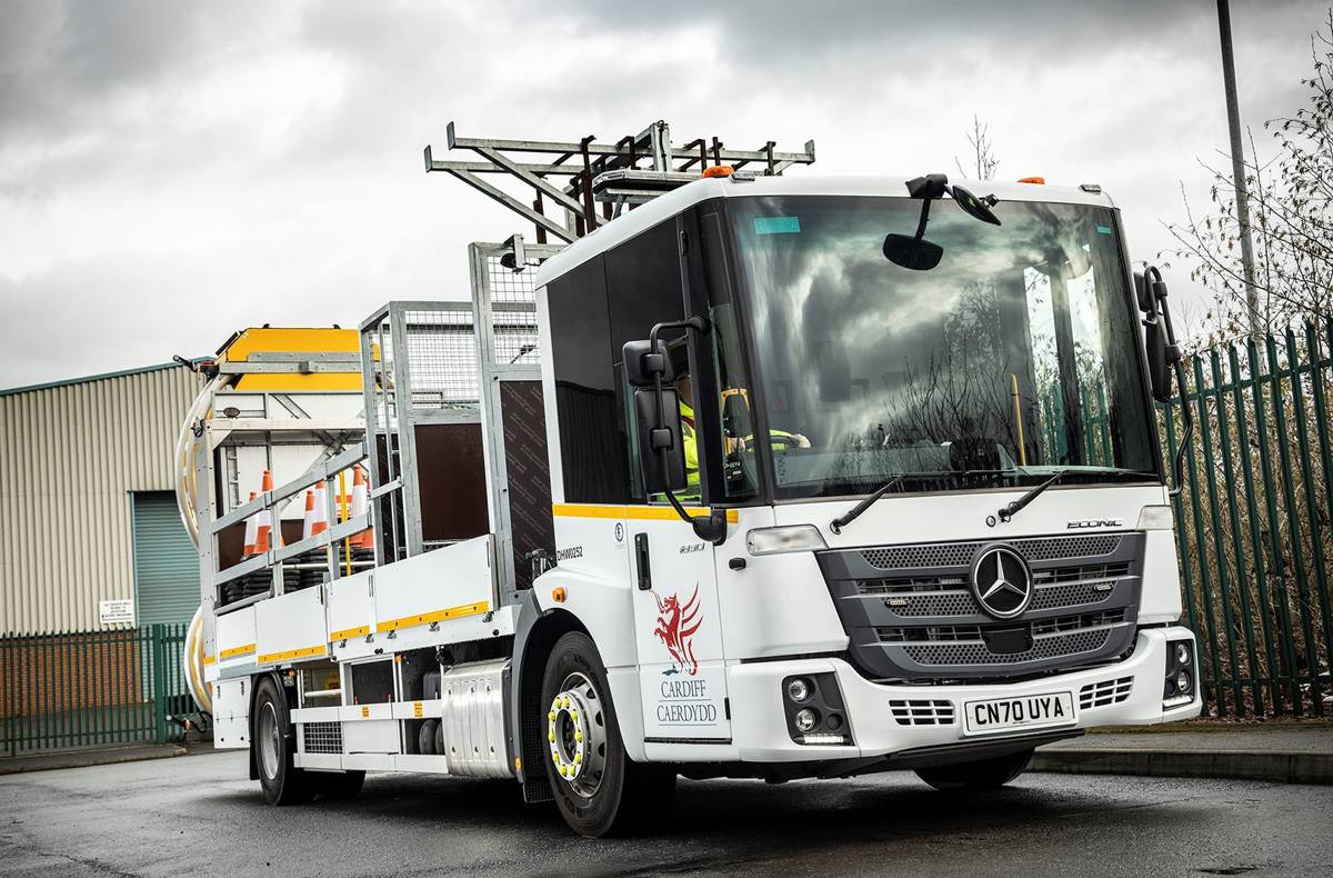 New Mercedes-Benz Econic impact protection vehicles drive safety at Cardiff Council