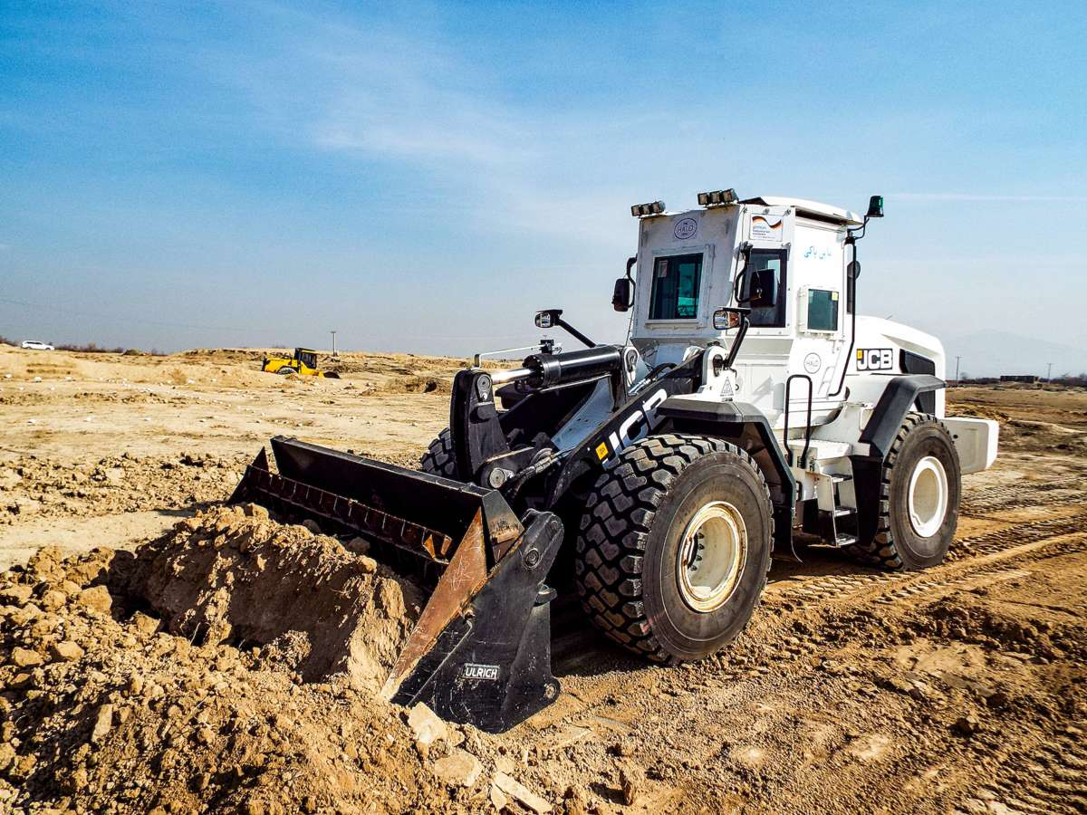 JCB armour plated excavator supports landmine clearance in Afghanistan