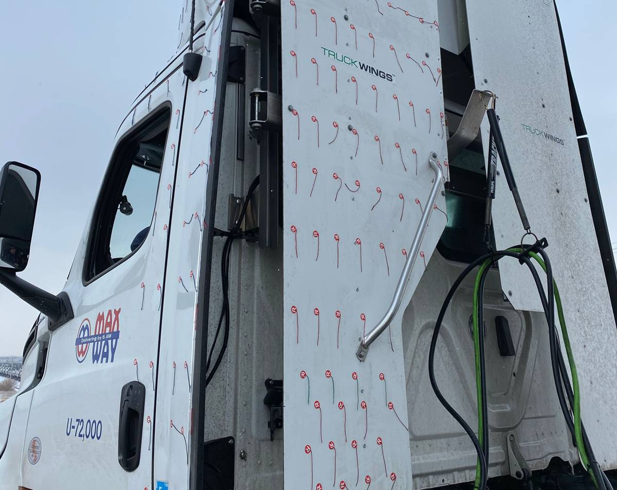 TruckLabs successfully tests TruckWings to save diesel