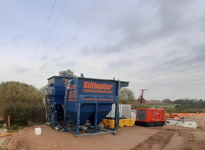 Siltbuster helping to protect Aquatic Ecosystems on £200m M55 motorway project