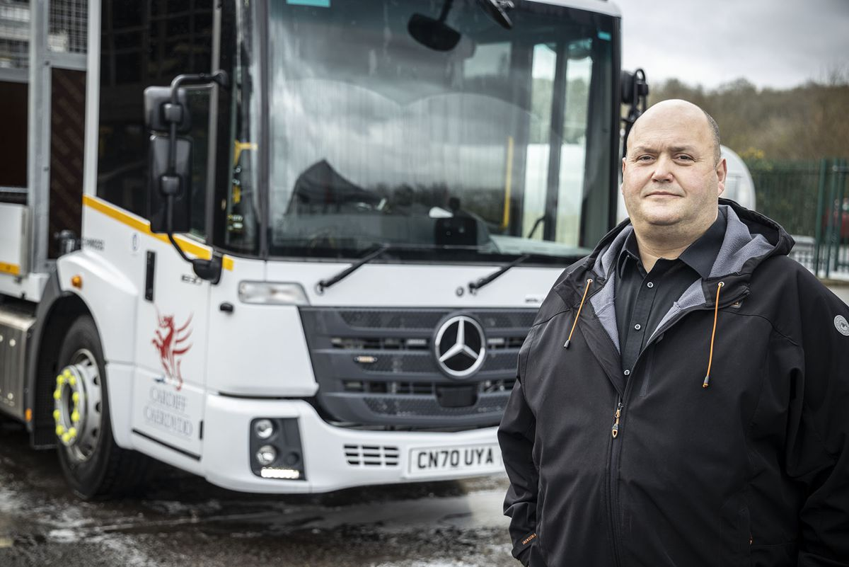 Right tool for the job: Cardiff Council's Richard Jones said the Mercedes-Benz Econic outscored its competitors in terms of safety and cost-effectiveness