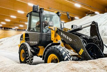 Volvo L25 Electric Wheel-Loader gives winter the cold-shoulder in Cologne