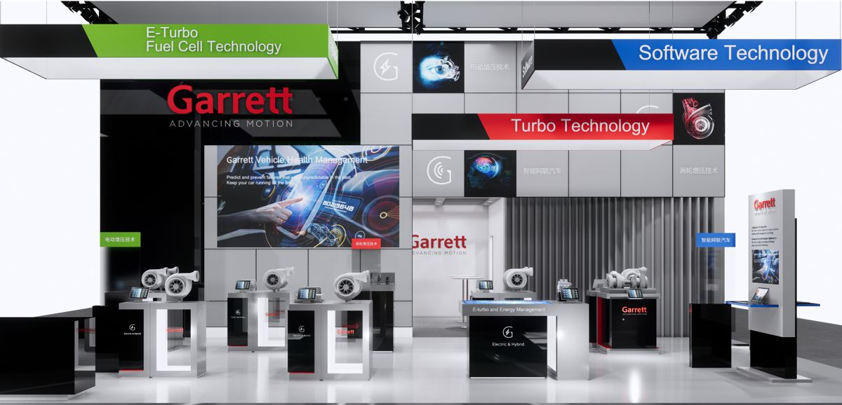 Garrett Motion showcasing e-boosting technologies at Auto Shanghai 2021
