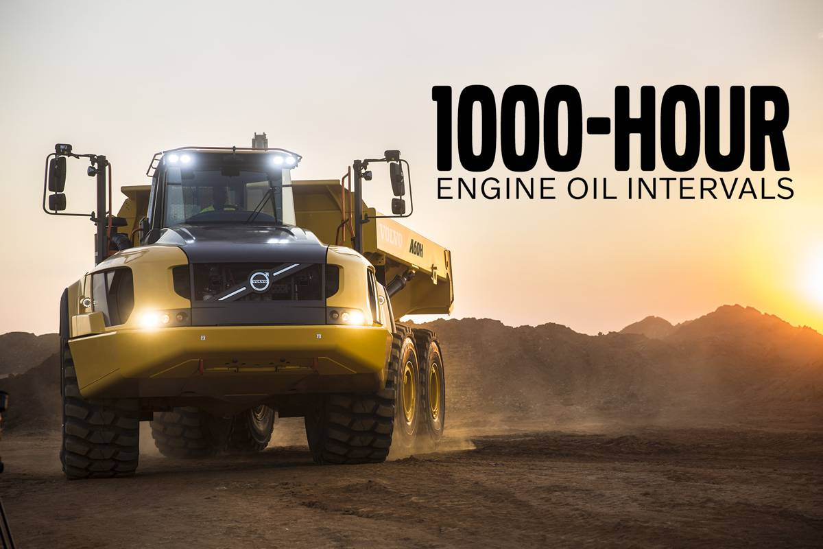 VolvoCE extends Oil-change intervals to 1,000 hours
