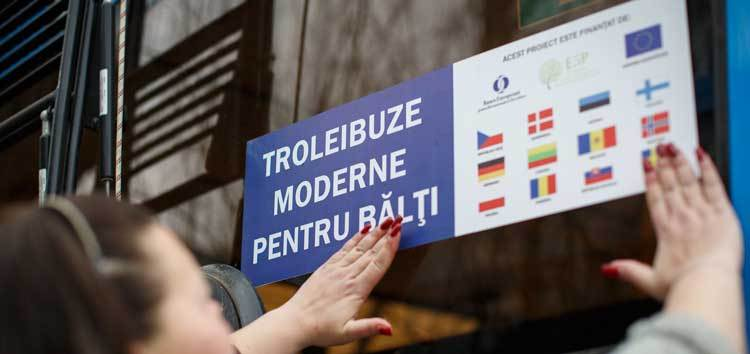 EBRD funds new trolleybuses in Balti, Moldova