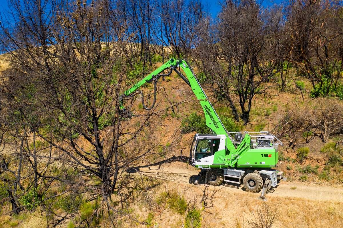SENNEBOGEN tree care handler a game changer for Atlas Tree Surgery in California