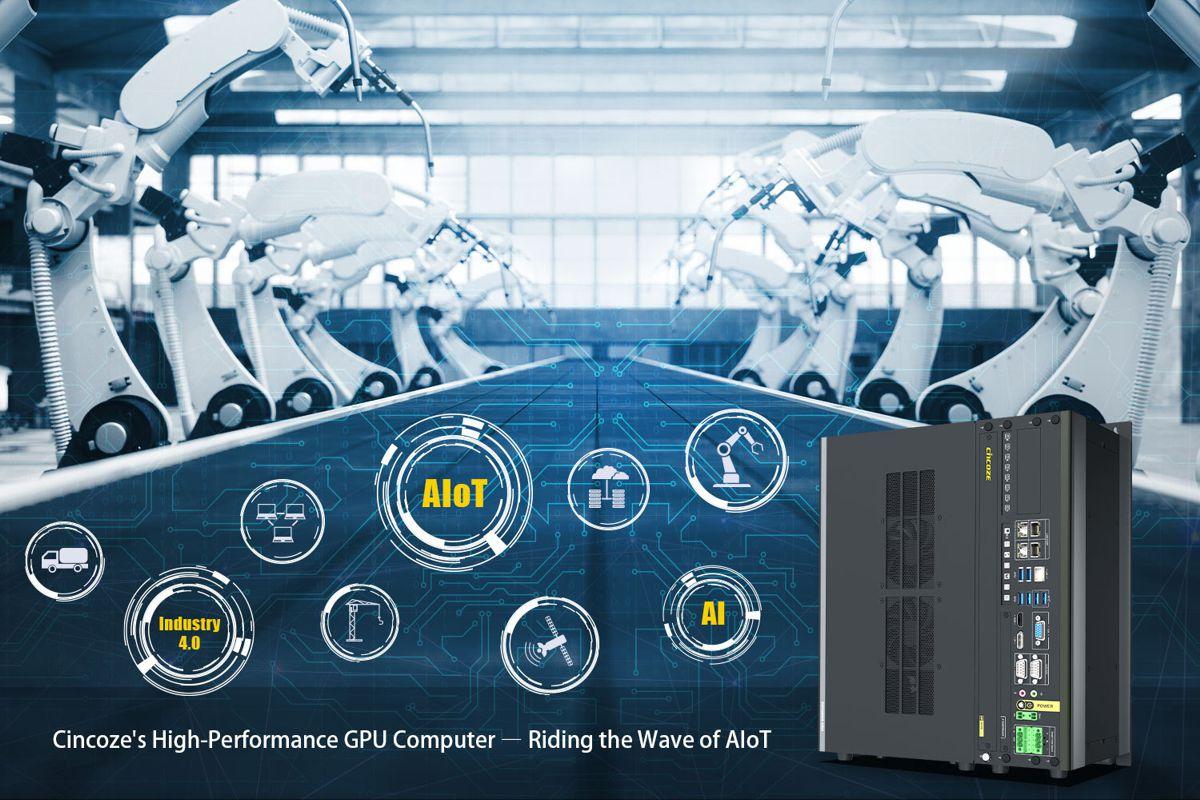 Cincoze high-performance industrial-grade GPU Computer rides the Waves of AIoT