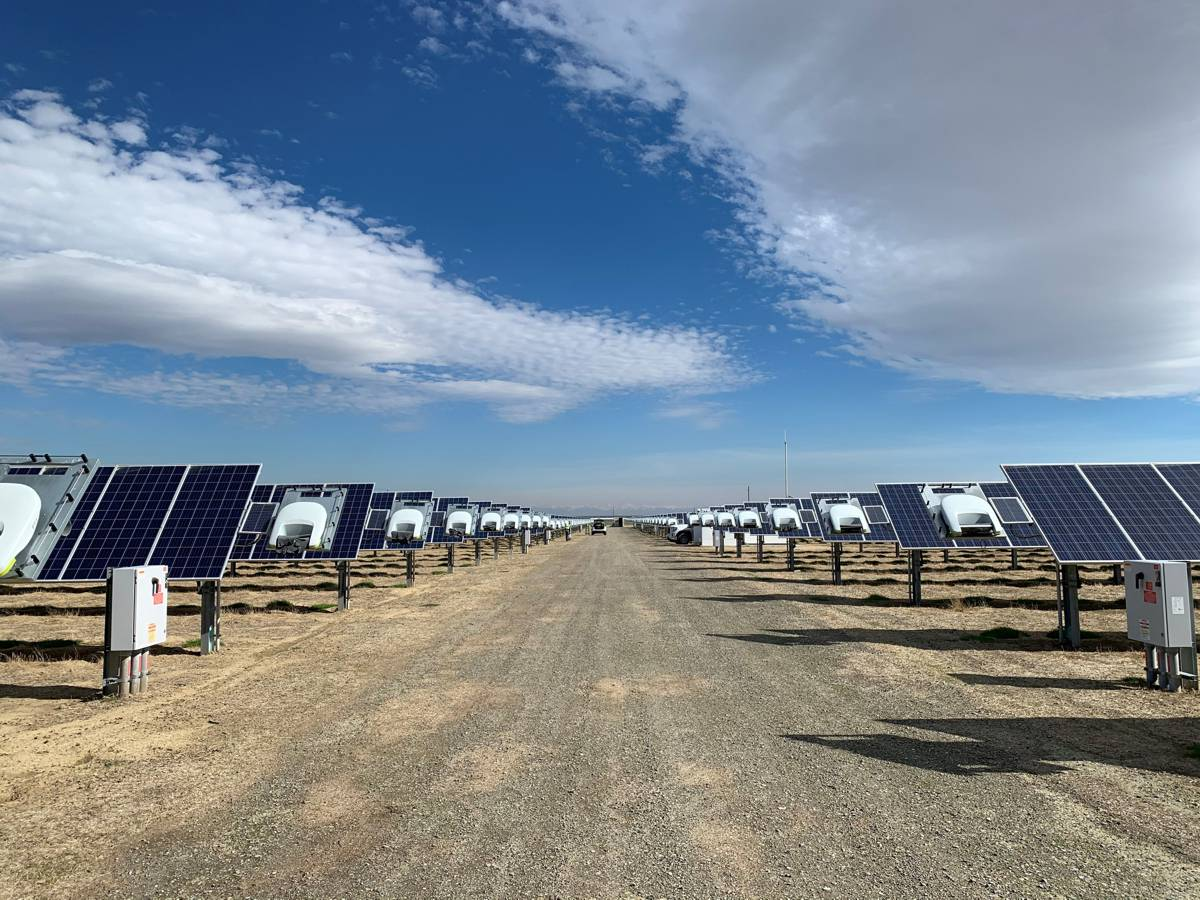 Ecoppia advanced robotic technology cleaning Solar Panels at AES California Site