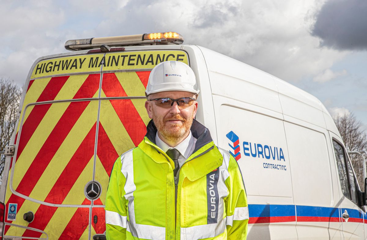 Matt Stubbings, divisional manager of Eurovia Contracting