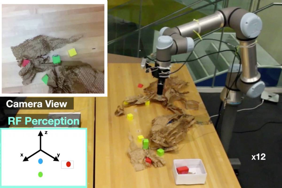 MIT robot system uses penetrative radio frequency to pinpoint items