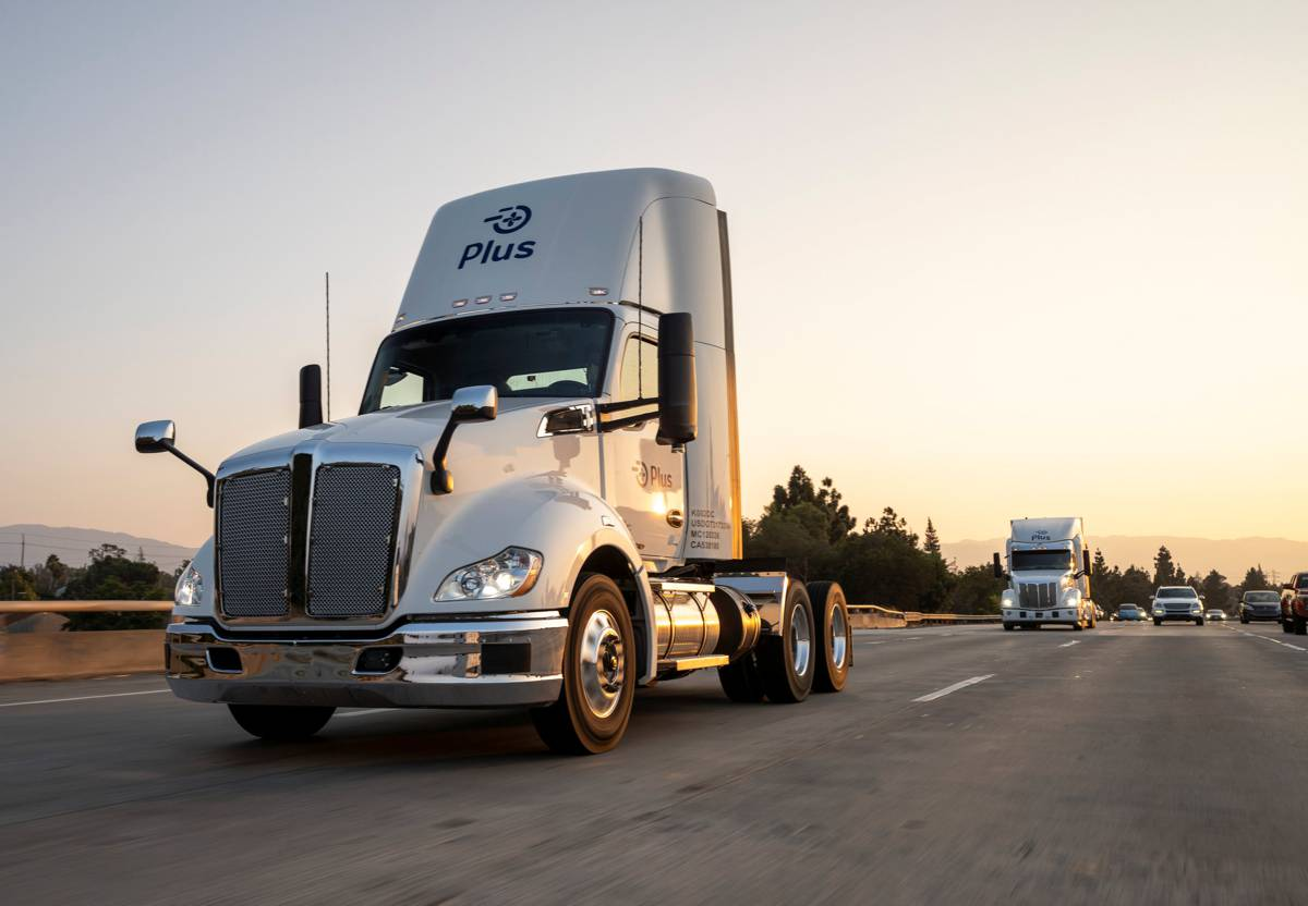 Autonomous truck company Plus fundraising reaches US$420m