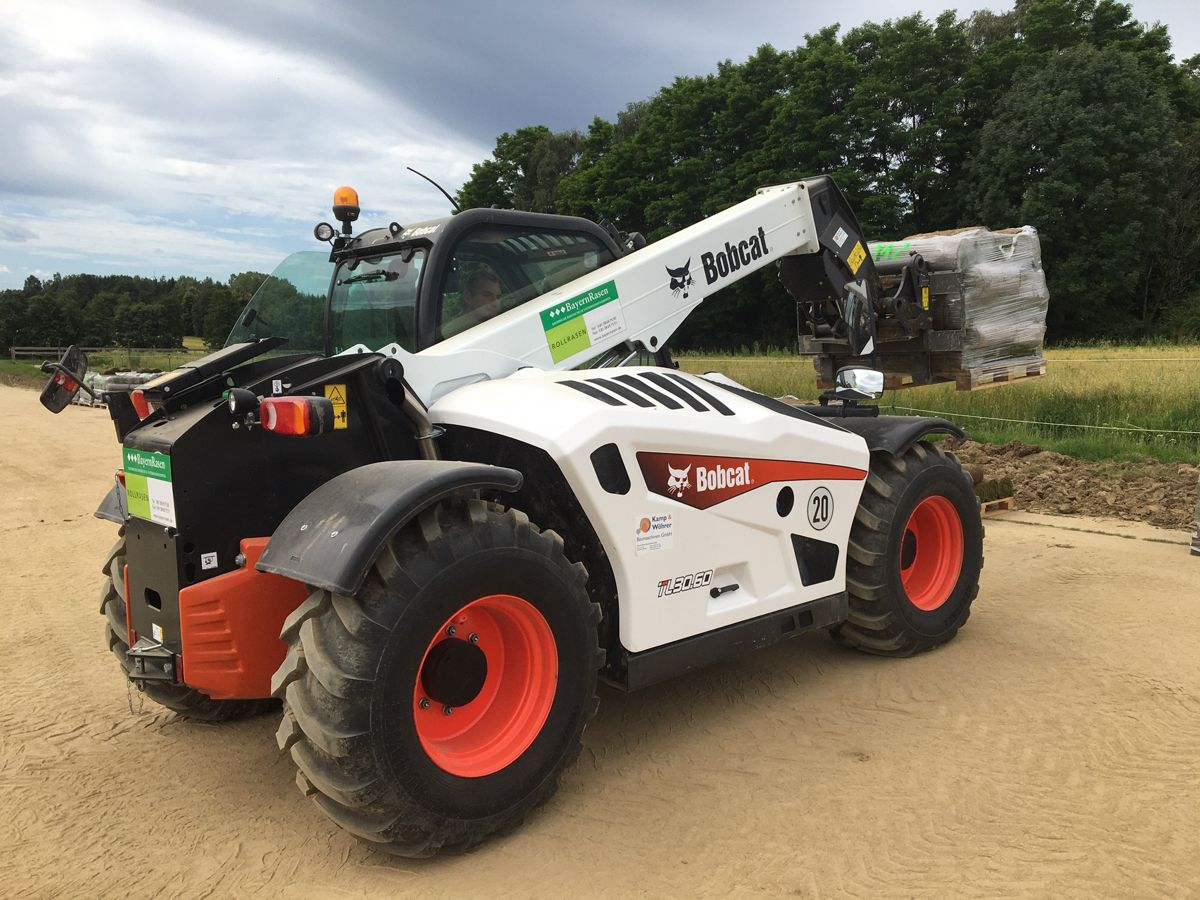 Turf Production in Bavaria now relies on a Bobcat TL30_60 Telehandler