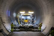 VÖGELE SUPER Paver powers through the longest rail tunnels in Germany