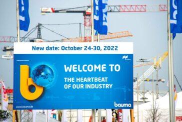 bauma Trade Fair postponed to 24-30 October 2022