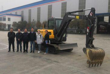 VolvoCE EC55 Electric Excavator trials start in China