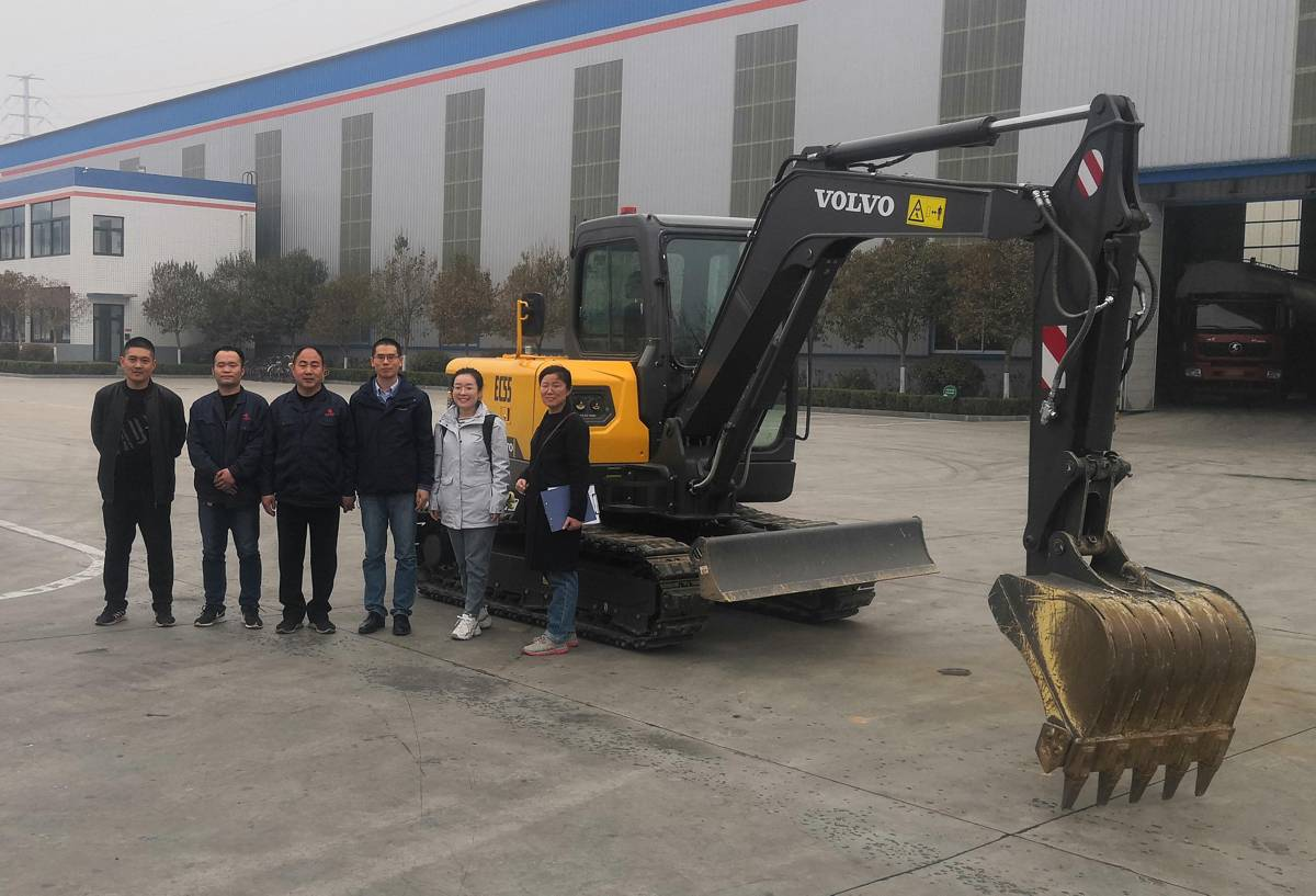 VolvoCE EC55 Electric Excavator trials start in China
