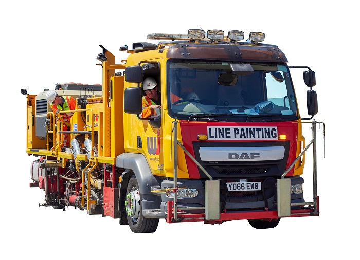 With 217 road marking vehicles and more than 500 staff, WJ Group installs in excess of 14.5 million metres of road markings every year for Highways England