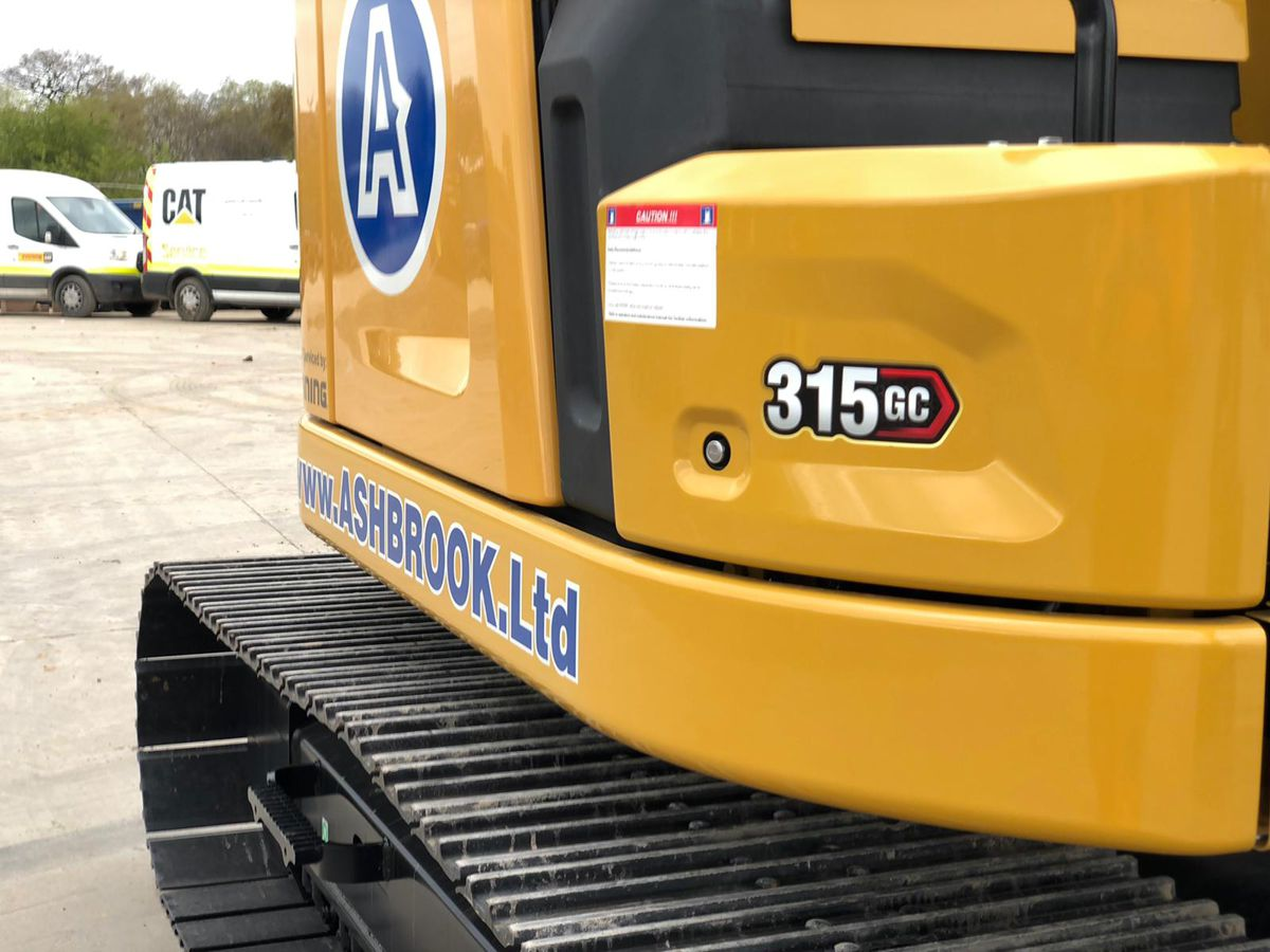 ASHBROOK excited to be the first UK company to receive a Cat 315 GC Excavator