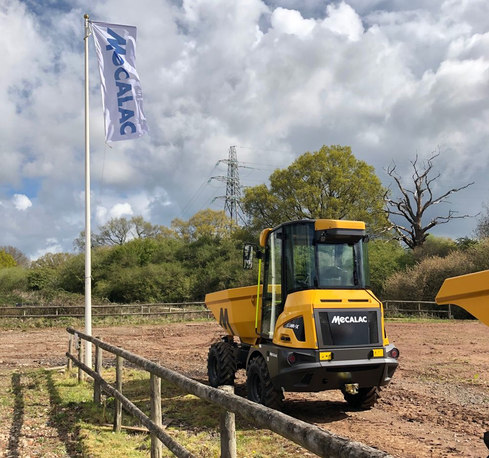 Mecalac launches new site dumpers in the UK