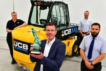 JCB Teletruk all-electric telescopic forklift wins Environment Award
