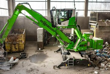 SENNEBOGEN electric material handler gets sorted with ceiling power and diesel powerpack